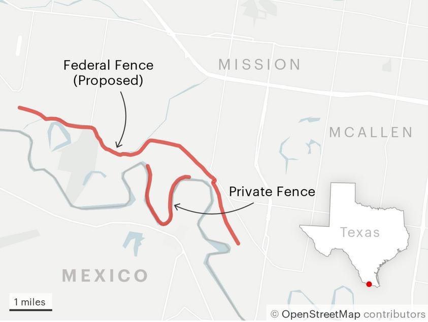 border wall map