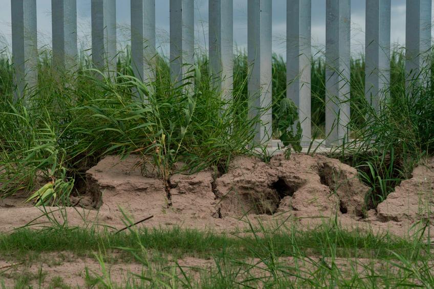 border wall damage